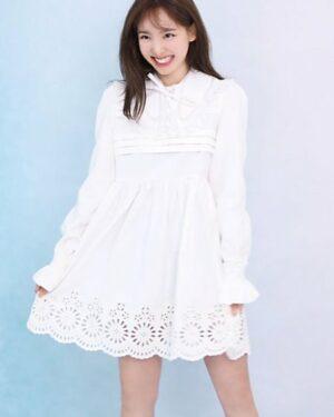 Doll Collar Long Sleeve Lace Dress | Nayeon – Twice