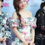 Halter Floral Print Ruffled Dress | Nayeon – Twice