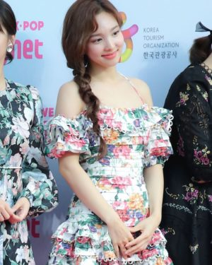 Halter Floral Print Ruffled Dress | Nayeon – Twice