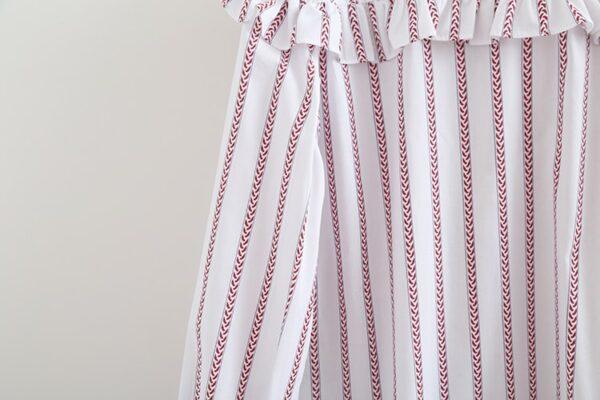 Red Striped Ruffled Loose Blouse | Shuhua – (G)I-DLE