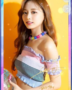 Striped Off-Shoulder Blouse | Tzuyu – Twice