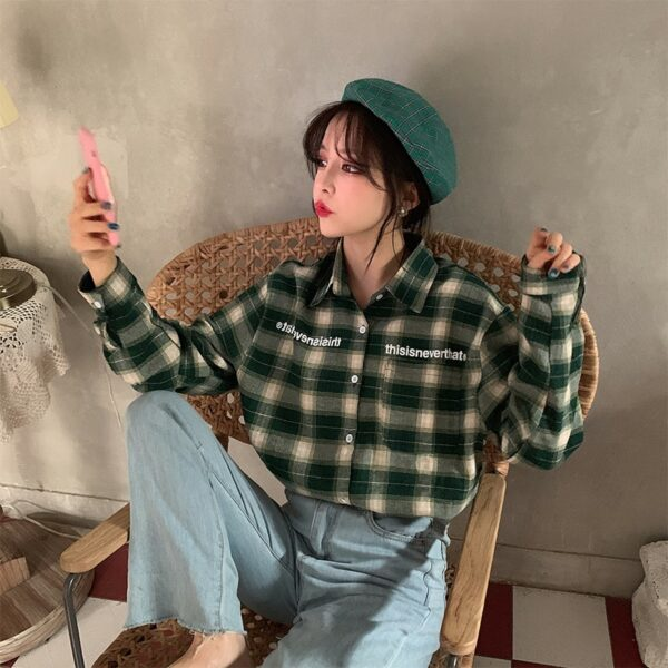 Green Plaid Polo Shirt | Lisa – BlackPink