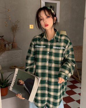 Lisa Green Plaid Polo Shirt (5)