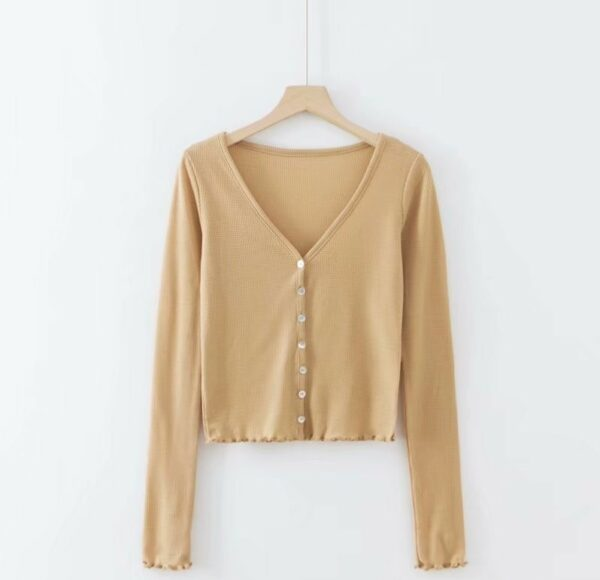 Low-cut Neckline Buttons Cardigan Shirt | Lisa – BlackPink