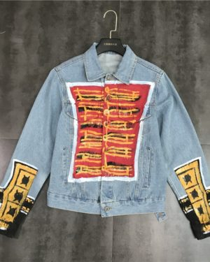 Ryujin Hand Painted Graffiti Denim Jacket (6)