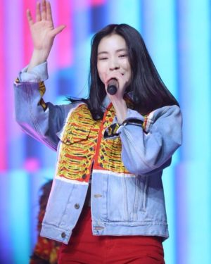 Hand Painted Graffiti Denim Jacket | Ryujin – ITZY