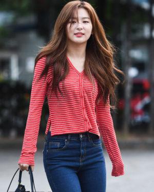 Red Striped Long Sleeve Buttons Shirt | Seulgi – Red Velvet
