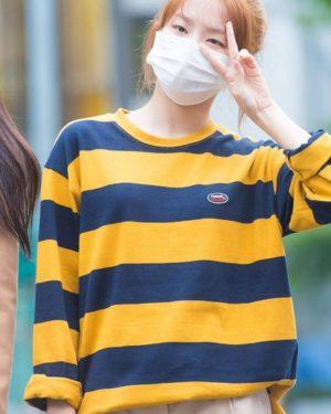 Yellow Striped Long-Sleeved Shirt | Seulgi – Red Velvet