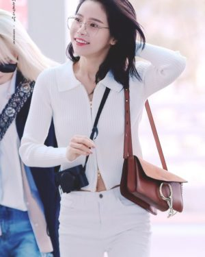 White Double Zipper Collared Jacket | Solar -Mamamoo