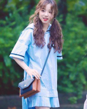 Light Blue Sailor Pleated Hem Dress | Yuqi – (G)I-DLE