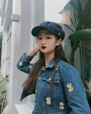 IU Dollar Sign Denim Jacket & Skirt (15)-min