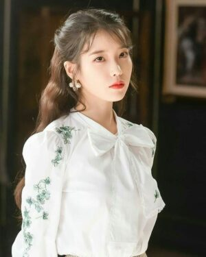 White Flower Embroidered Blouse | IU – Hotel Del Luna