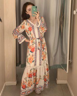 IU Retro Floral Dress (2)