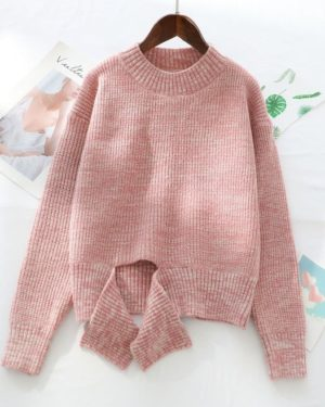Irene Pink Deconstructed Sweater (11)