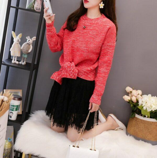 Pink Deconstructed Sweater   Irene – Red Velvet