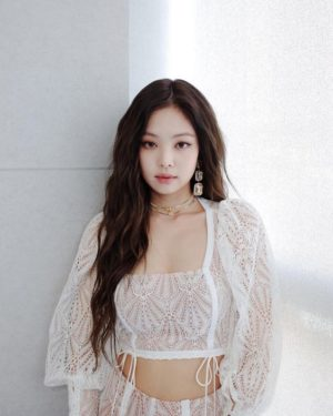 Square Collar Lace Crop Top | Jennie –  BlackPink