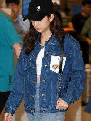 Deer Denim Jacket And Skirt Set | Jisoo -BlackPink