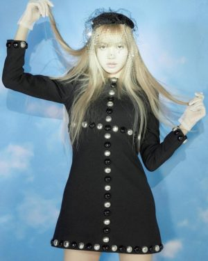 Beaded Black A-Line Dress | Lisa – BlackPink