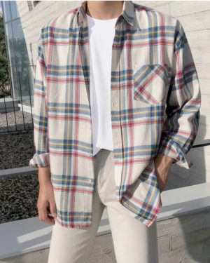 Minnie Plaid Blue and Red Long Sleeve Shirt (3)