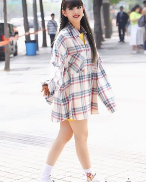 Plaid Blue And Red Long Sleeve Shirt | Minnie – (G)I-DLE