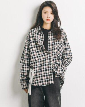 Yuqi Plaid Polo Autumn Shirt (2)