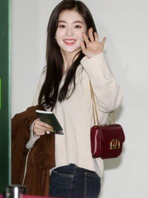 Hooded Knit Sweater | Irene – Red Velvet