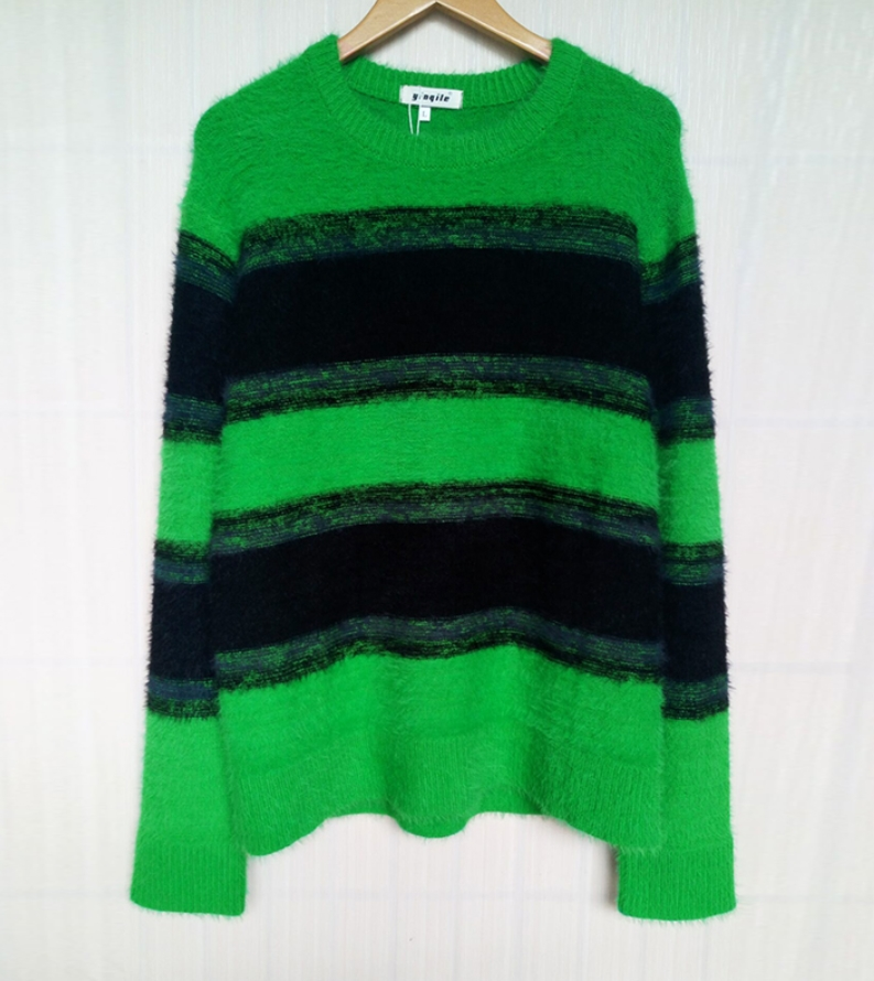 MV Girls Sweaters Hedging Children Sweater Knit Korean Version Large Round Neck