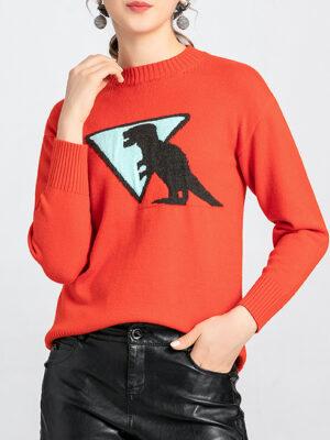 LeeKnow T-rex Dinasour Sweater 1