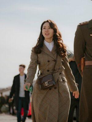 Lattice Patterned Winter Coat   Yoon Se Ri – Crash Landing On You