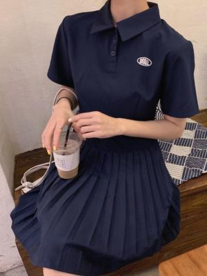 Rose Short Sleave Collared Dress 00009