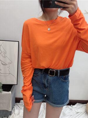 ITZY Ryujin -Comfy Orange Long Sleeve Shirt (19)