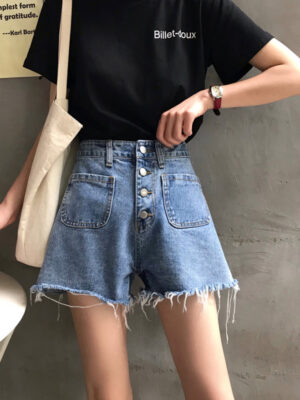 Tzuyu Wide Leg Denim Shorts (4)