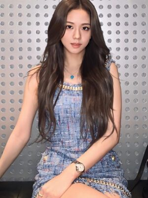 Fringe Tweed Sleeveless Mini Dress | Jisoo – Blackpink