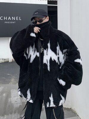 Jisung – Stray Kids Black Fleece Jacket (32)