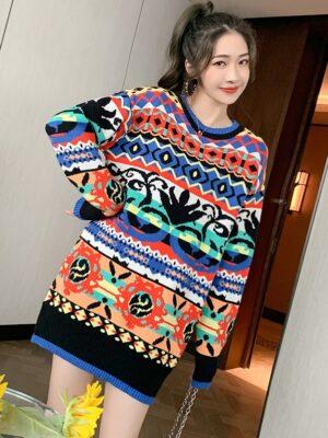 Shownu – MONSTA X Geometric Patterned Sweater (10)