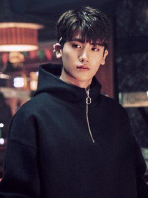 Black Hoodie With Zipper | Ahn Min Hyuk – Strong Woman Do Bong Soon