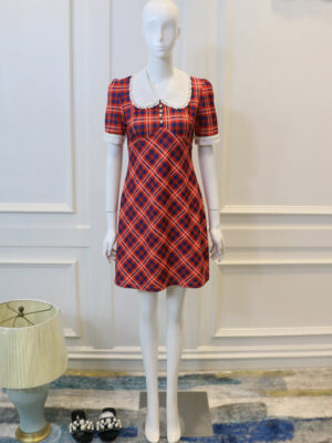 Nayeon Doll Collar Checked Dress (2)