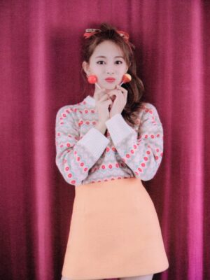 Red Daisy Pattern Sweater | Tzuyu – Twice