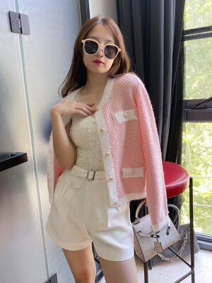 Lim Joo Kyung – True Beauty Sequined Pink Cardigan (10)