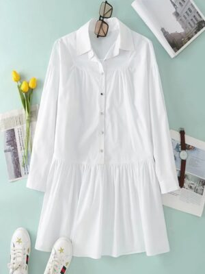 Oh Mi Joo – Run On White Shirt Dress (10)