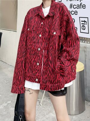 Baekhyun – Zebra Print Red Collared Jacket (2)