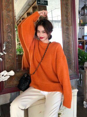 Felix – Stray Kids Orange Knitted Sweater (9)