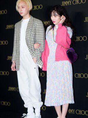 Pink Knitted Cardigan | Hyuna