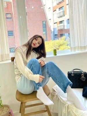 Gradient Denim Jeans | Joy – Red Velvet