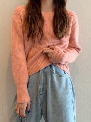 Lim Joo Kyung – True Beauty Orange Knitted Short Sweater (18)