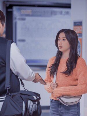 Orange Knitted Short Sweater | Lim Joo Kyung – True Beauty