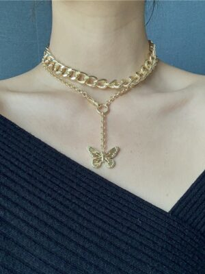 Butterfly Pendant Double-Layer Choker – Dahyun (3)