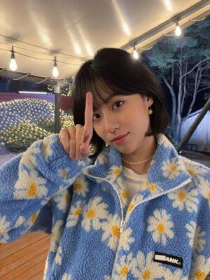 Blue Lamb Wool Daisy Jacket  | Choi Soo Ah – True Beauty