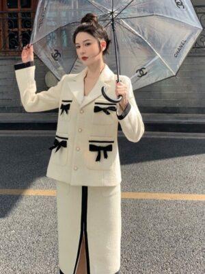 Dahyun – White Ribbon Tweed Jacket (3)