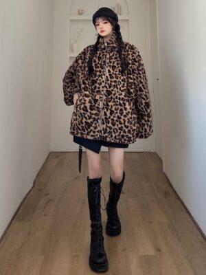 Donghyuk – iKON Stand-Up Collar Leopard Jacket (7)
